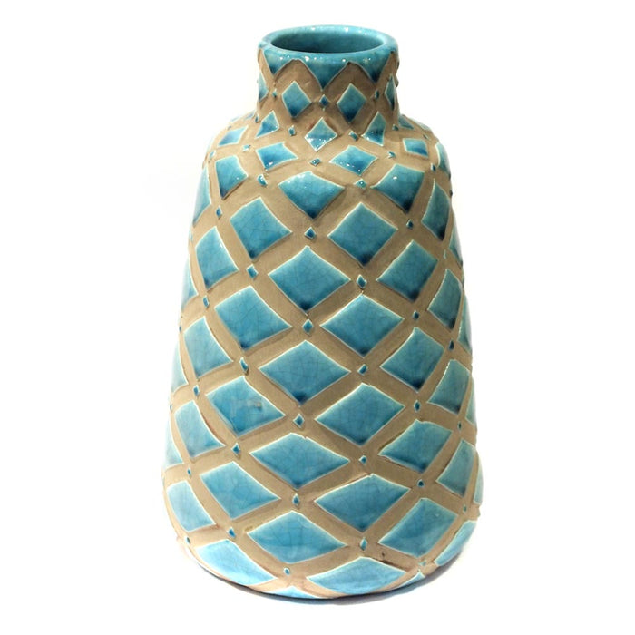 Turquoise Scales Tear Drop Vases