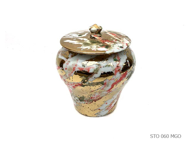 Golden Porcelain Pot
