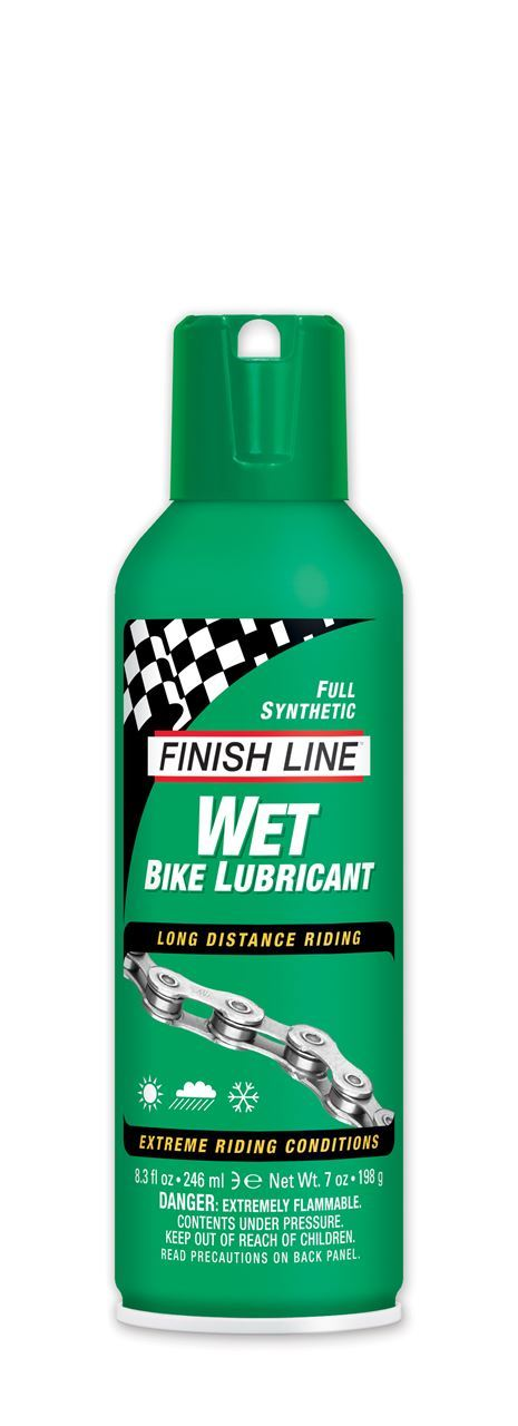 Finish Line Wet Bike Lubricant 7oz Aerosol
