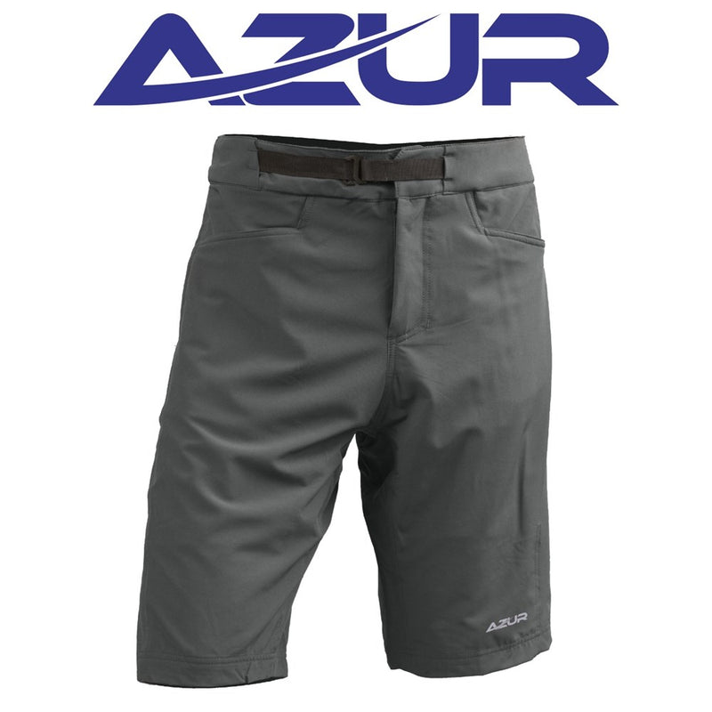 Azur All Trail Cycling Shorts with Detachable Under Garment Army Green