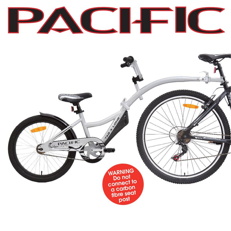 Pacific Tag A Long Trailer Bike Silver Tagalong