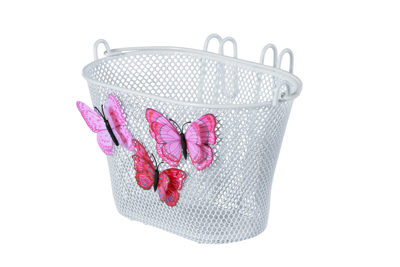 Basil Jasmin Butterfly Front Basket Junior White