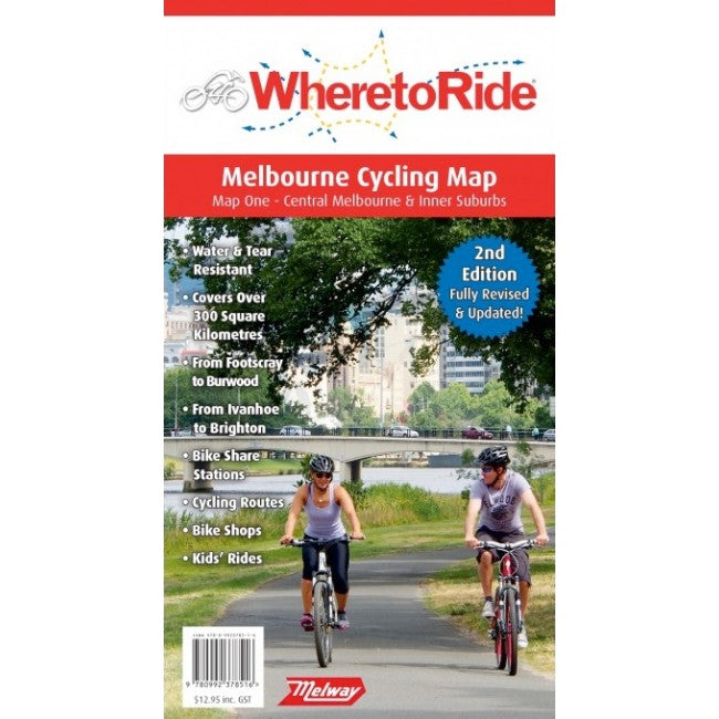 Where to Ride Map Melbourne Map 1 Central and Inner Suburbs