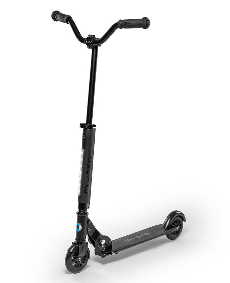 Micro Sprite Deluxe Scooter Black  with LED Light