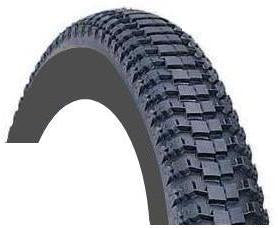 "Duro Tyre 16 x 1.75 BLACK  ""Dirt pack"" tread 9358"