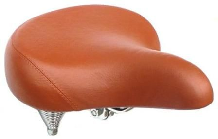 Cruiser Saddle With Spring Brown Vinyl 250 x 260mmL 8311