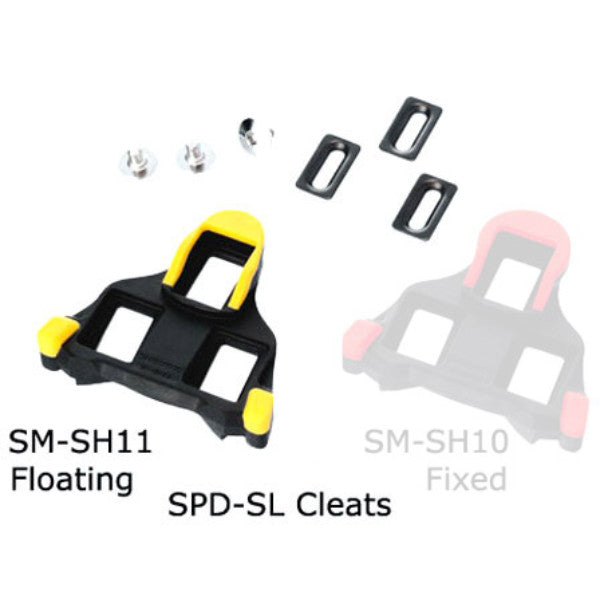 Shimano SM-SH11 SPD-SL Cleat Set (Yellow)