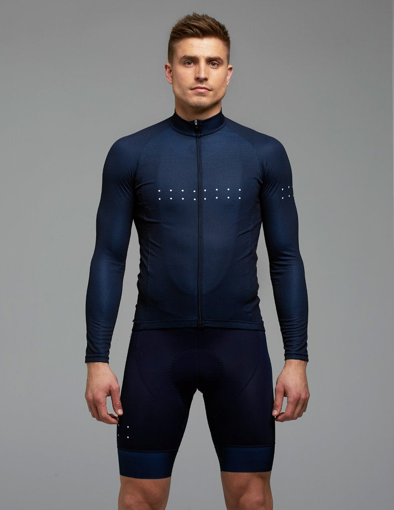 15a234918 The Pedla Aero Long Sleeve Jersey Navy Cycling Full Gas Aero Men s –  Melbourne Bicycles