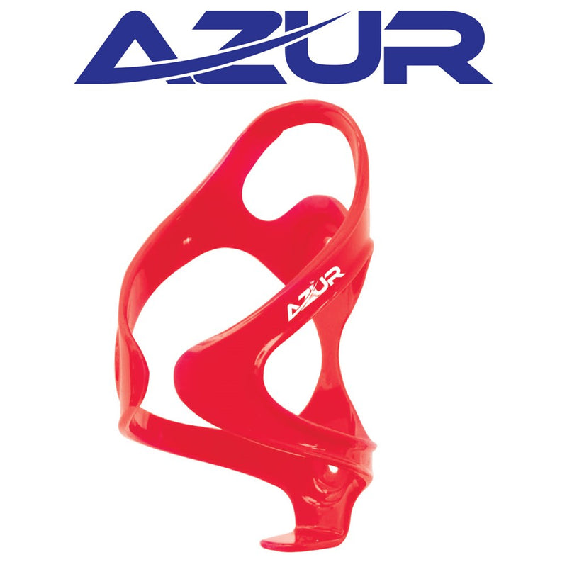 Azur Force Bidon Bottle Cage Red