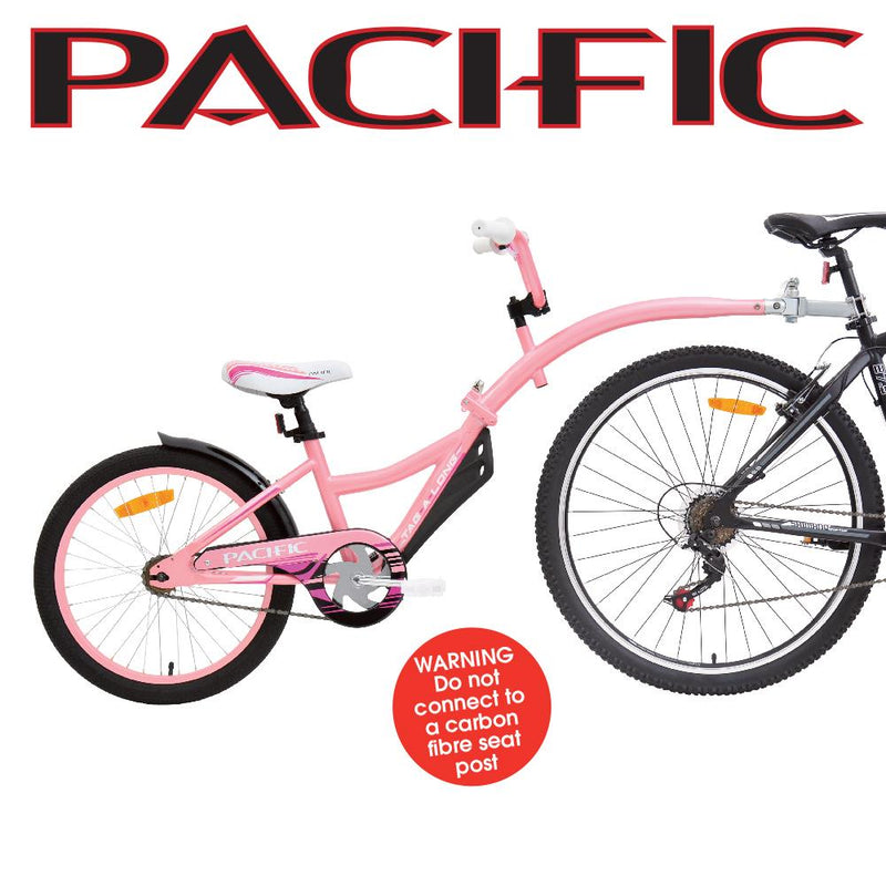 Pacific Tag A Long Trailer Tagalong Bike Pink