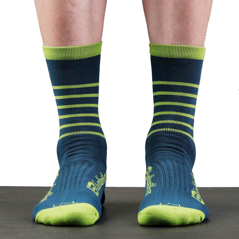 Bellwether Cycling Socks Blitz Blue Citrus
