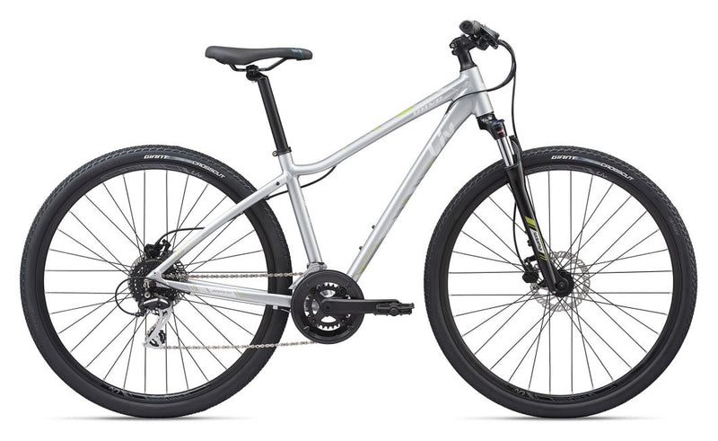 Liv Rove 3 Disc Womens Hybrid Bike Silver 2020