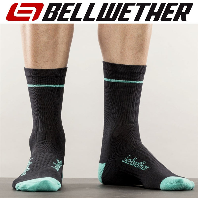 Bellwether Socks Optime Black Aqua