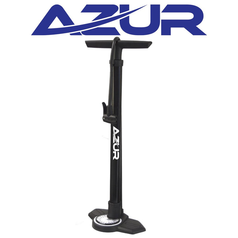 Azur Mistral Floor Pump Black Dual Head