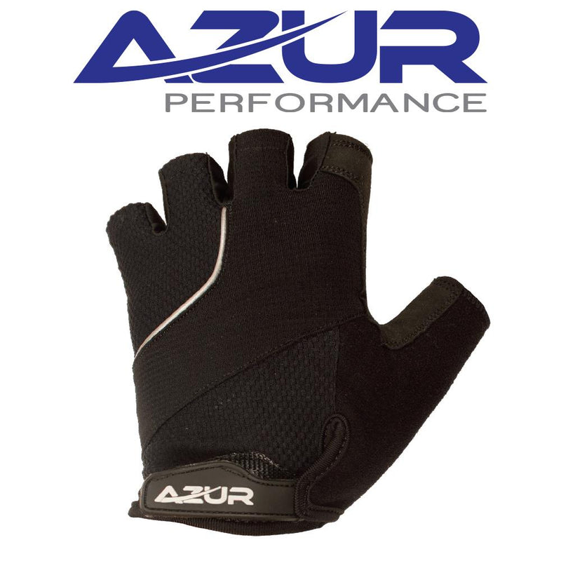 Azur Fingerless Gloves S6 Series - Black