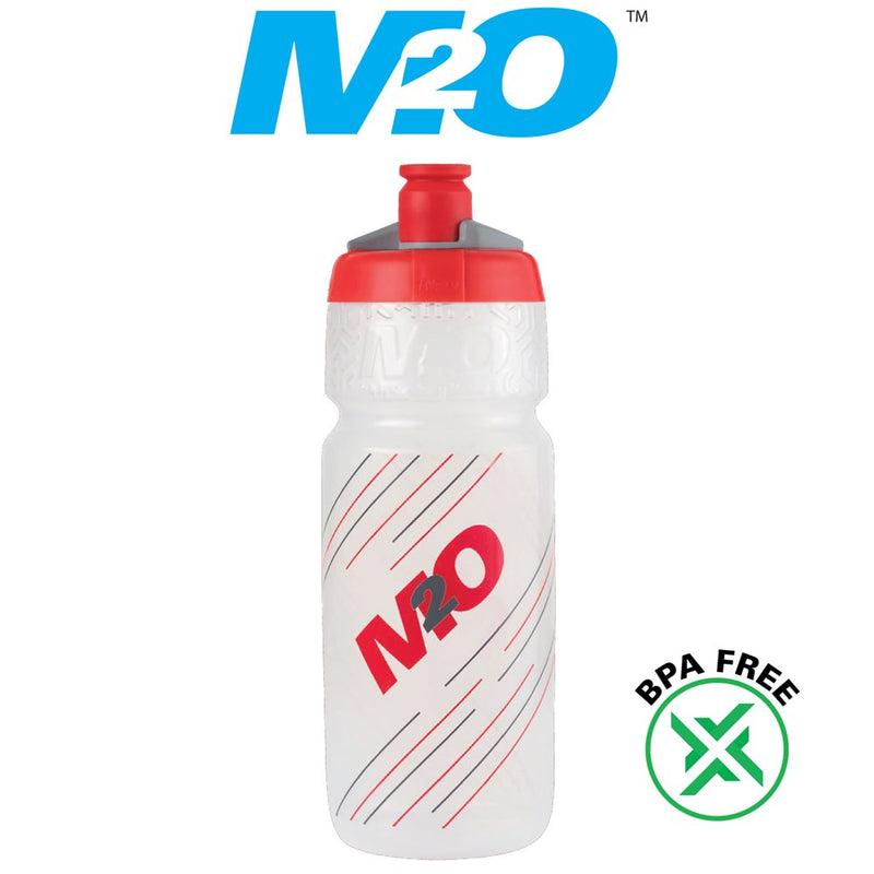 M2O Pilot Water Bottle 710ml Clear/Red
