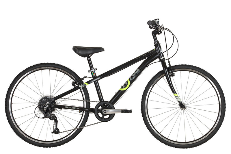 ByK E-540 x9 Geared Kids Bike Midnight (Black/Yellow)