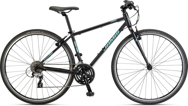 Jamis Coda S2 Femme Womens Flat Bar Road Bike Ano Black 2021