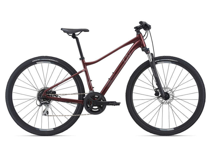 Liv Rove 3 Womens Hybrid Bike Red Wine 2021