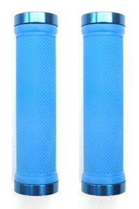 Lock-On Dual Clamp MTB Grips Blue