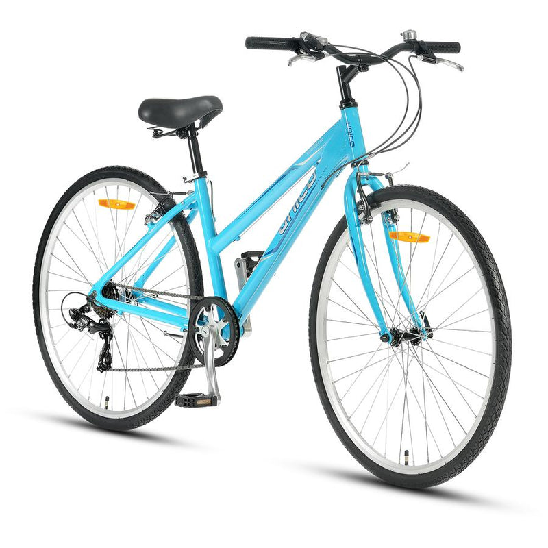 "XDS Unico Comfort 50 Ladies Flatbar Bicycle 700c 16"" Light Blue"