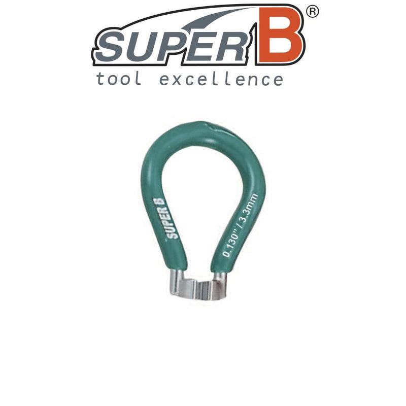 SuperB Spoke Wrench Key Tool 3.3mm Green