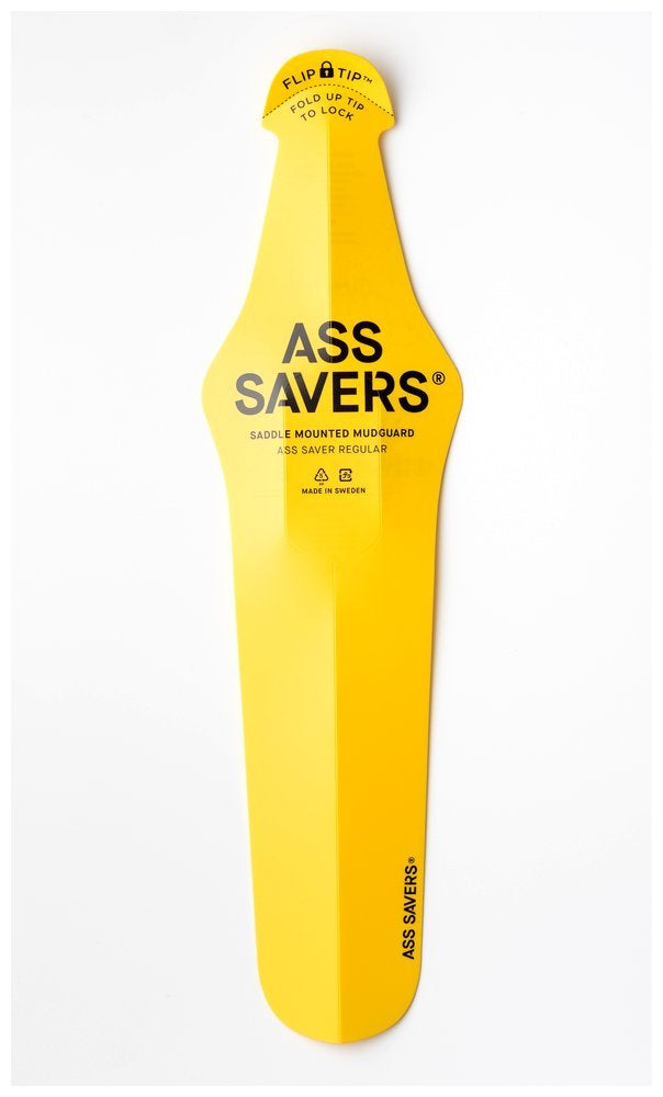 Ass Saver Regular Yellow Saddle Mounted Mud Guard