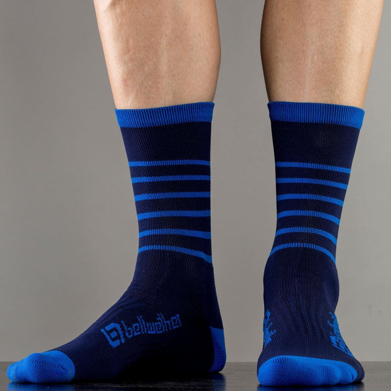 Bellwether Blitz Cycling Socks Navy/Cyan