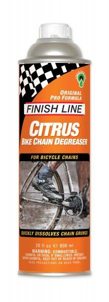 Finish Line Citrus Chain Degreaser 20oz Liquid