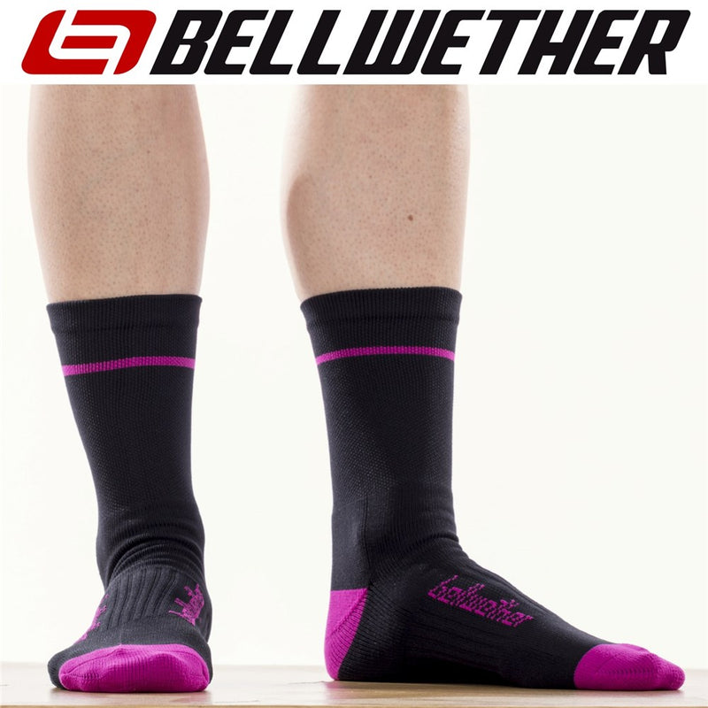 Bellwether Socks Optime Black Fuchsia