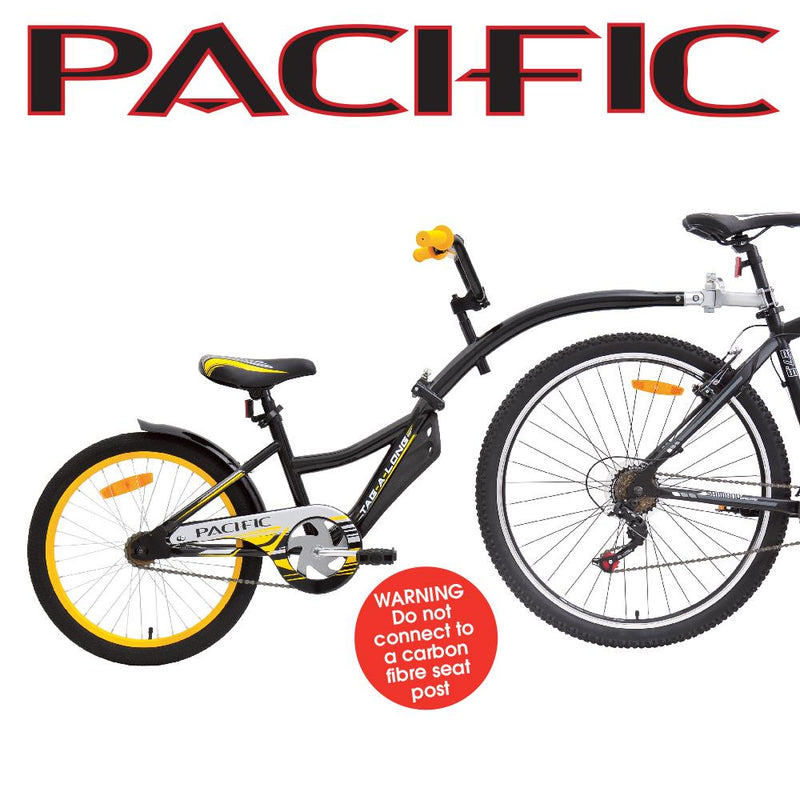 Pacific Tag A Long Trailer Bike Black and Yellow Tagalong