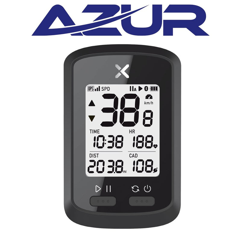 Azur XOSS Cycle Computer Commuter GPS - 10 Functions