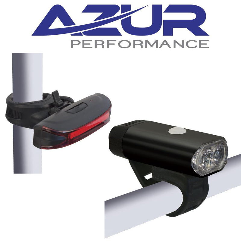 Azur Track 400 Lumen Head Light / Alien 65 Lumen Rear Light USB Set