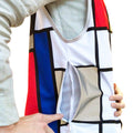 Hey Reflecto Mens Mondrian Lining & Pocket Cycling Safety Vest