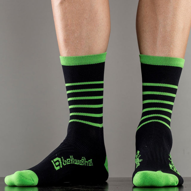 Bellwether Blitz Cycling Socks Black/Citrus