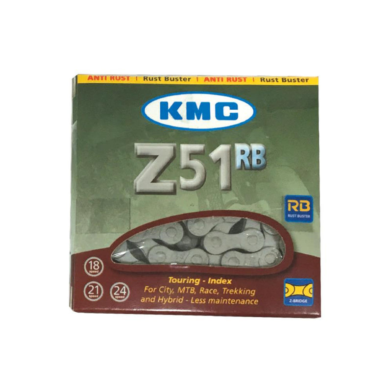 KMC 6-8 Speed Chain Z51RB 1/2 x 3/32 116L with Anti-Rust Coating
