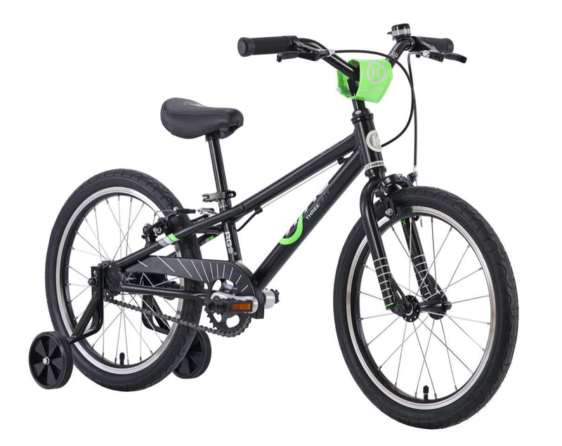 ByK E-350 Kids Bike Black Neon Green Midnight 2021