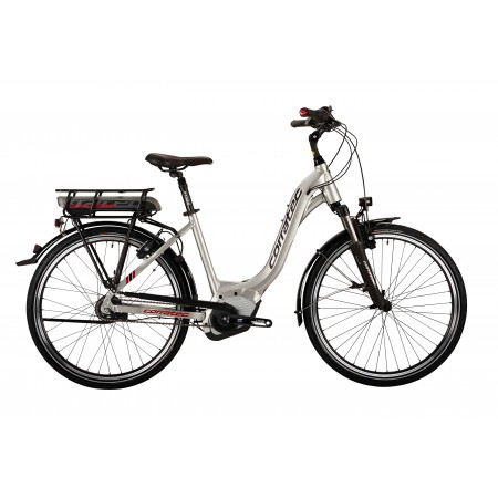 Corratec E-Power Active 26 wheel Nexus 8-speed Bosch Mid Drive Stepthru Electric Bicycle, Silver, 44cm