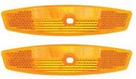 Wheel Reflectors Front and Rear Orange Set of 2 3725
