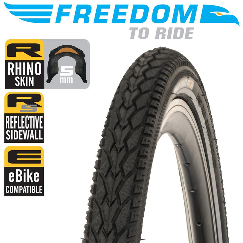 Freedom to Ride Mako Shark Puncture ResistantBicycle Tyre 700 x 28