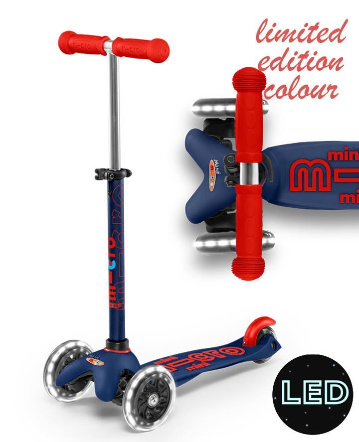Micro Mini Deluxe LED Scooter Navy Blue