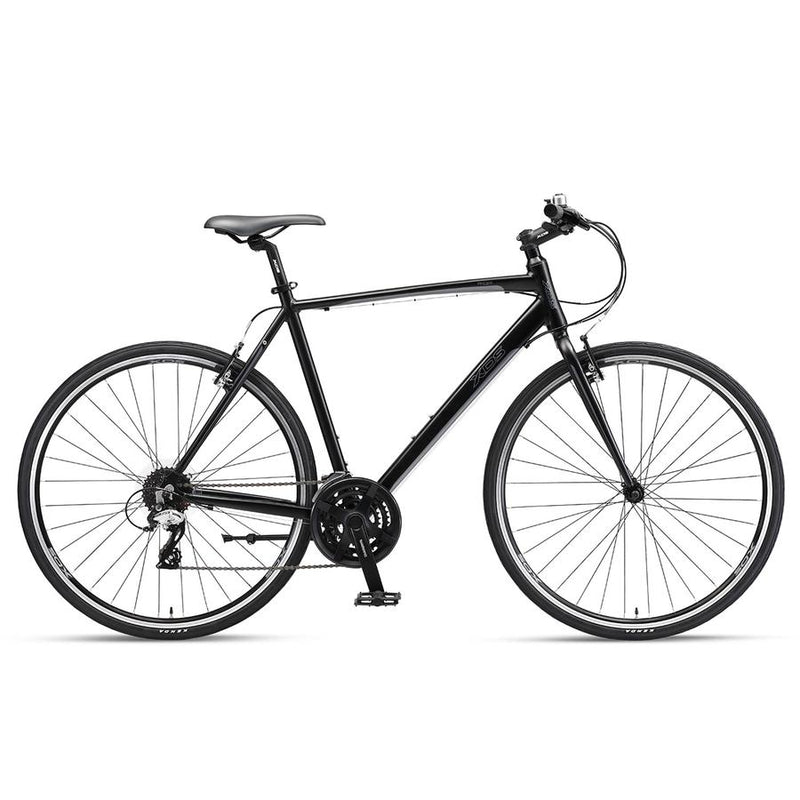 XDS Pacer Mens Flat Bar Road Bike Matt Black