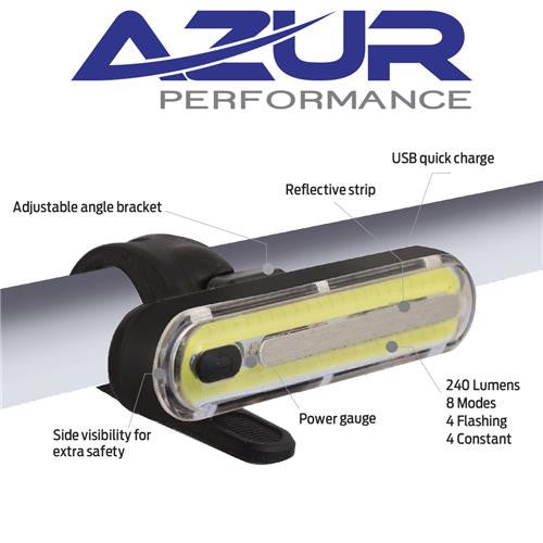 Azur Alien 2 USB Front / Head Bike Light