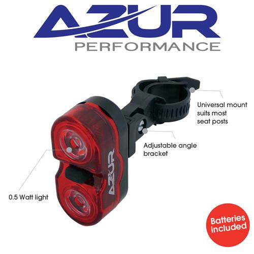 Azur Bright Battery Powered Rear / Tail Bike Light Duel Eyes