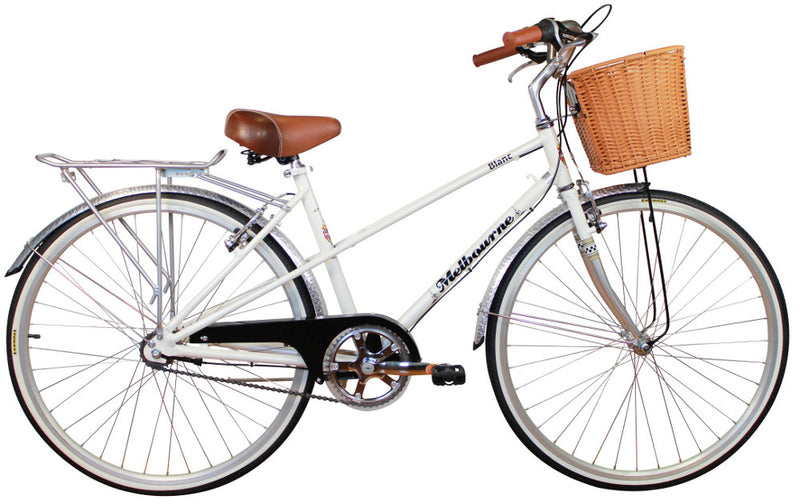 Melbourne Blanc Retro Bike