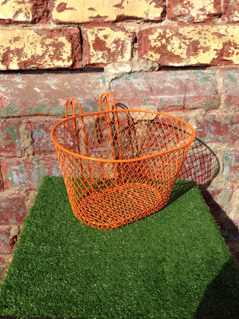 Basket Small Wire Front Orange