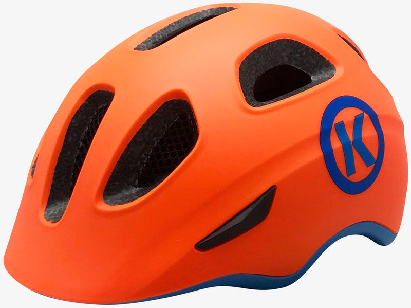 ByK Mini Cycling Helmet Neon Orange/ Blue 48cm-54cm