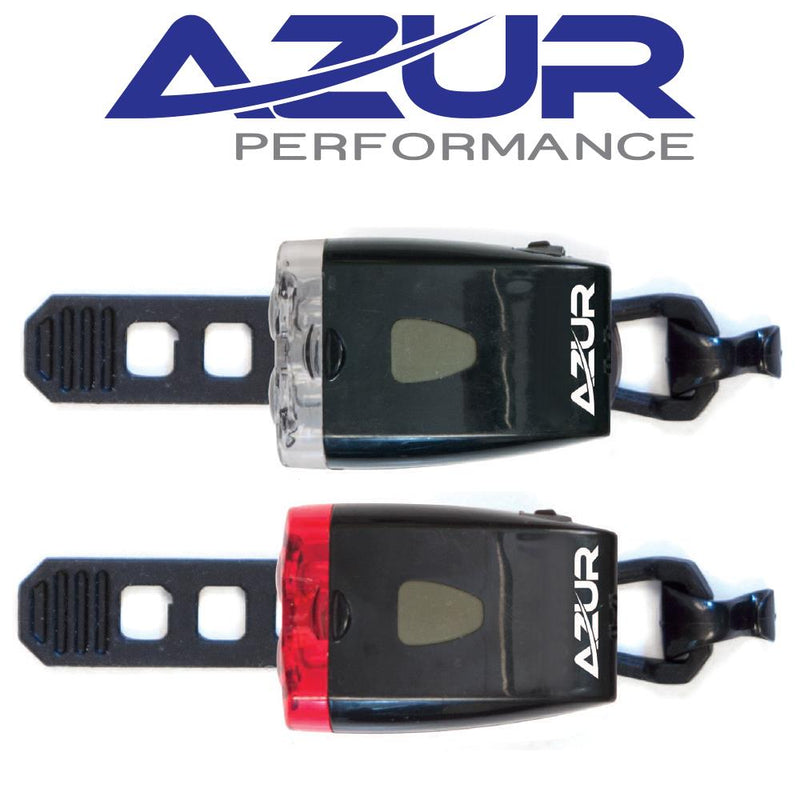 Azur Twin USB Rechargable Bicycle Bike Light Set