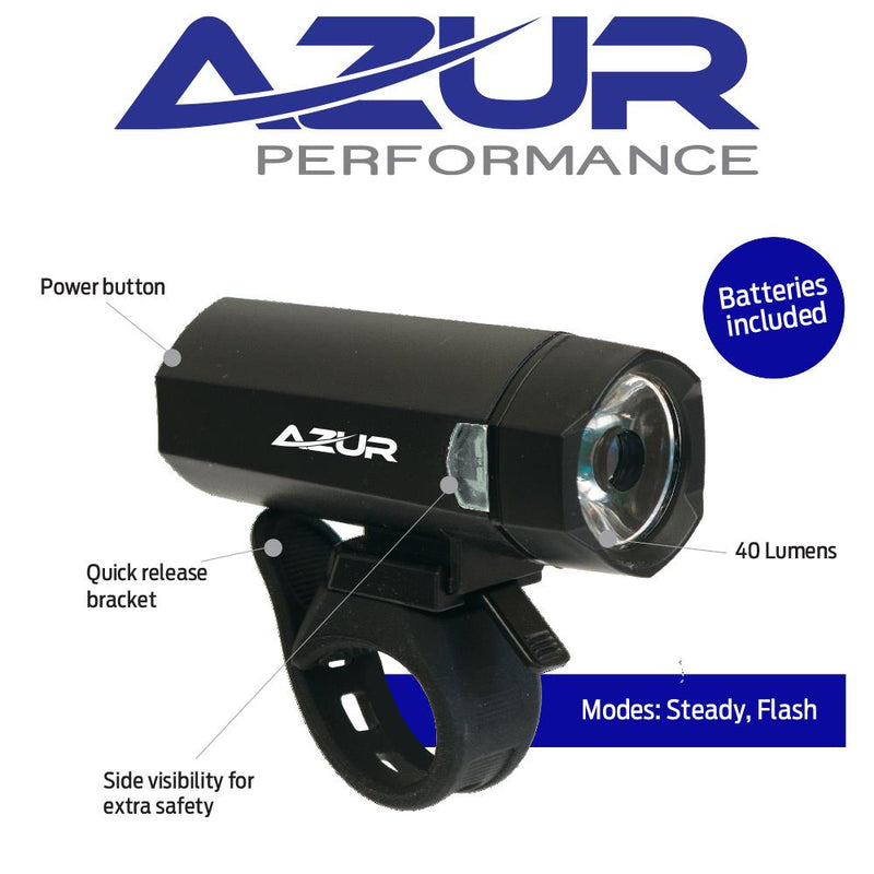 Azur Blaze 40 Lumen Front Battery Head Light Bike Light