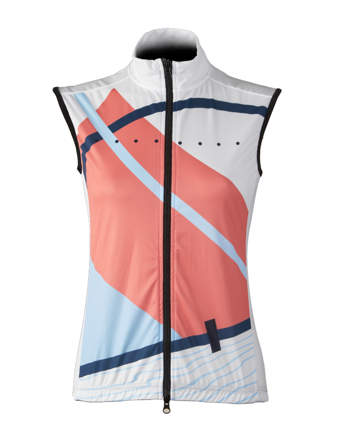 Pedla Wind Cheater Linear Women's Cycling Gilet White